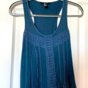 Forever 21 turquoise tank top